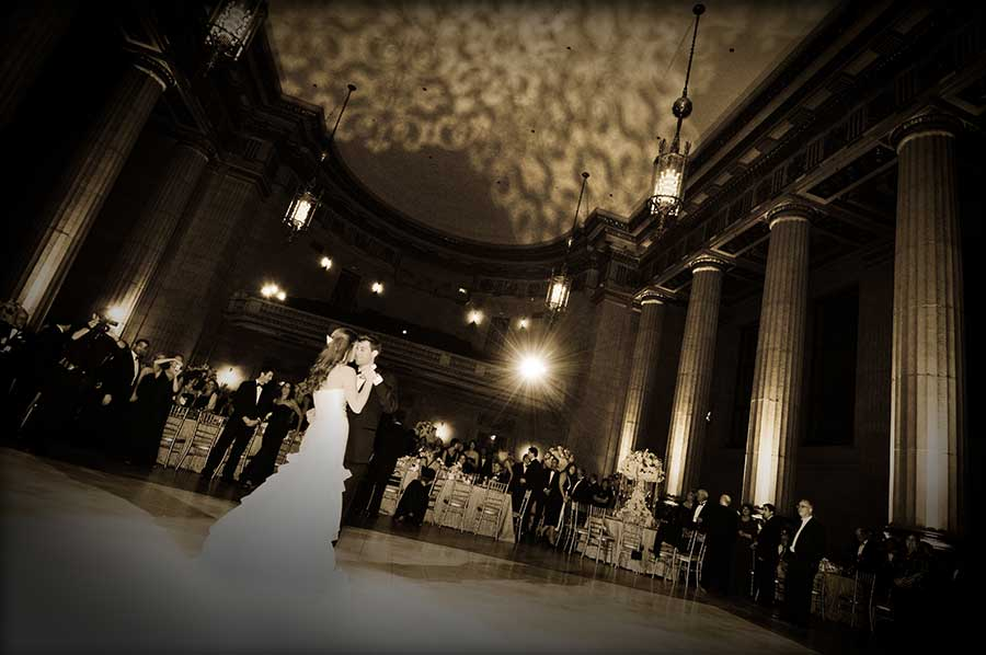 Image of wedding party at Andrew W. Mellon Auditorium