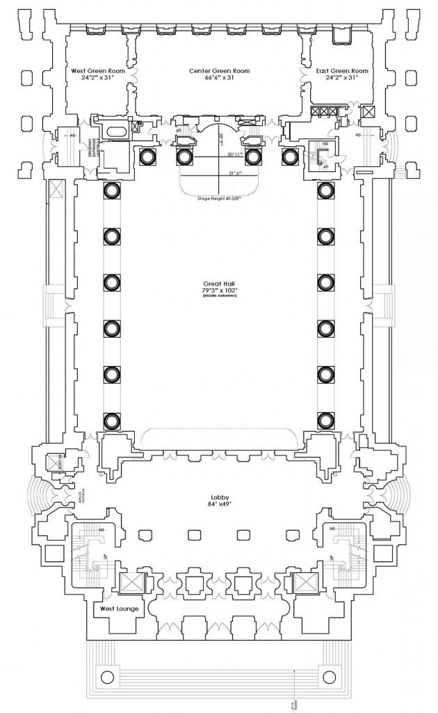 Mellon Auditorium floor plan